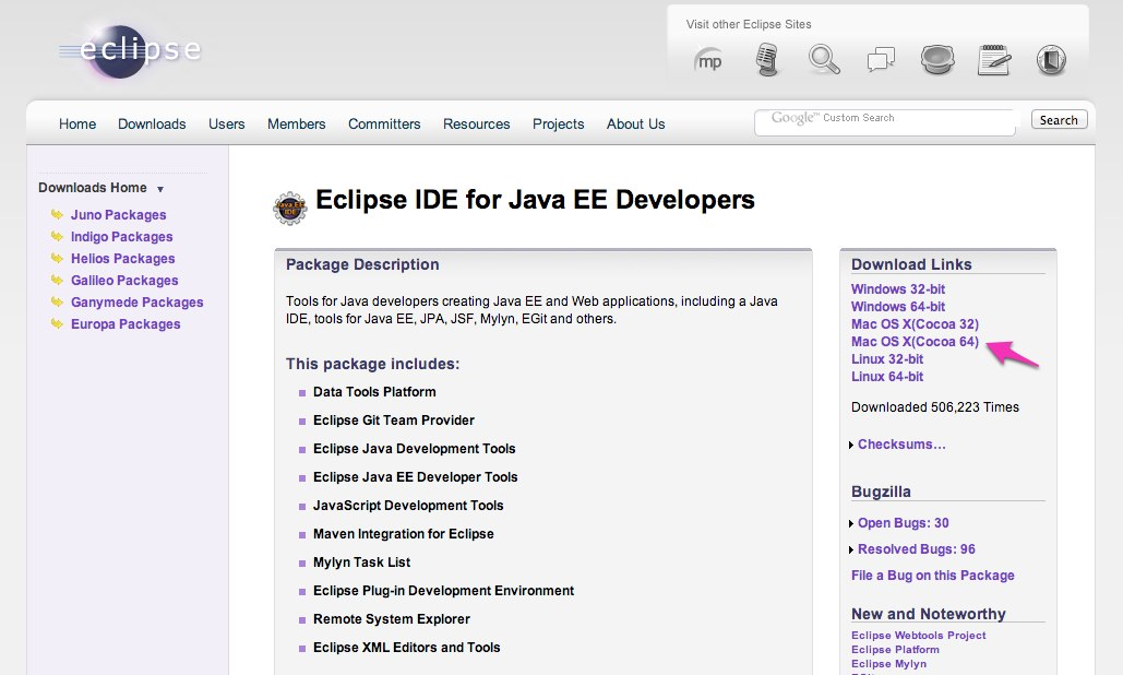 Eclipse IDE for Java EE Developers | Eclipse Packages